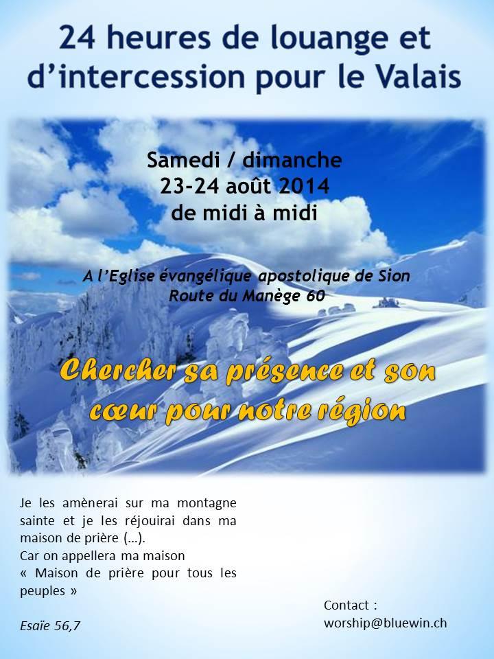 24h de louange à Sion