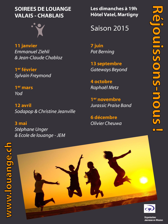 NEW : Programme 2015