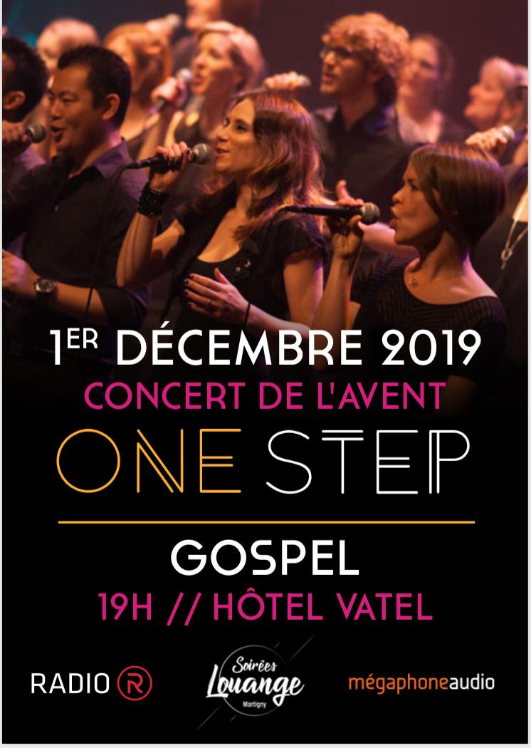 1er décembre : Concert de l'Avent avec One Step !
