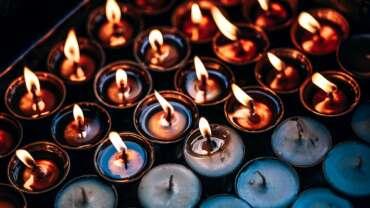 Burning Prayer Candles